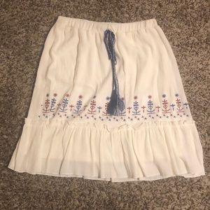 Love fire white skirt
